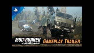 Четвертый  день в пути Mudrunner DLC #4   PS4