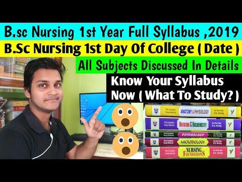 B.Sc Nursing 1st Year Full Syllabus Discussion |1st Day Of College (Date)|bsc Nursing Syllabus