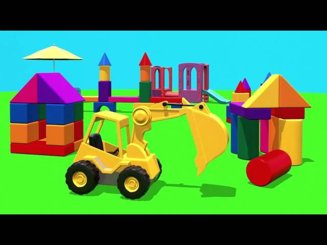 Развивающий мультфильм для детей - Город На Детской Площадке
