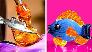 Satisfying Glass Blowing Craft And Other Mesmerizing Mini Crafts With Resin, Wood And Clay
