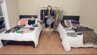 بالفيديو.. كيف تضعين 100 قطعة من الثياب في حقيبة سفر واحدة؟