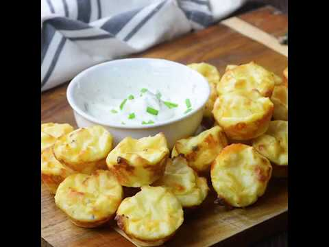 Sour Cream And Chive Mashed Potato Puffs!