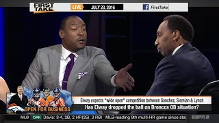 Stephen A. Smith Goes Off On Darren Woodson Over Broncos QB!
