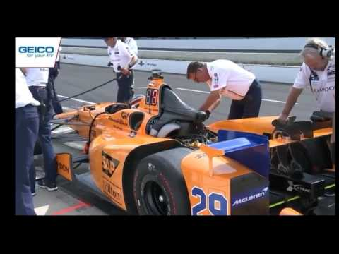 Indianapolis 500 Fernando Alonso Pit Stop Config Day 3