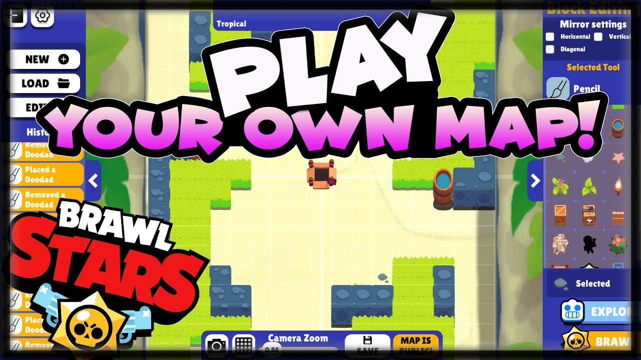 New Map Creation Tool Play After You Make It Brawl Stars Youtube