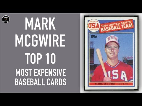 Mark Mcgwire Top 10 Most Expensive Baseball Cards Sold On Ebay