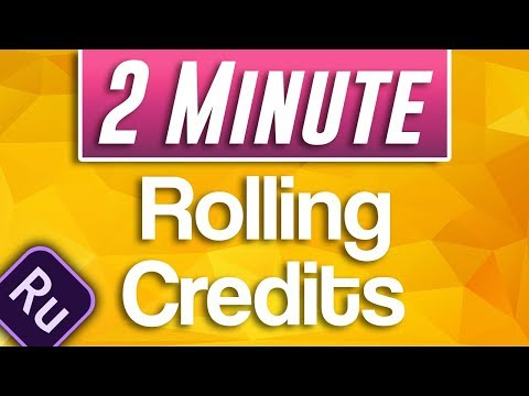 Premiere Rush CC : How to Add Rolling Credits