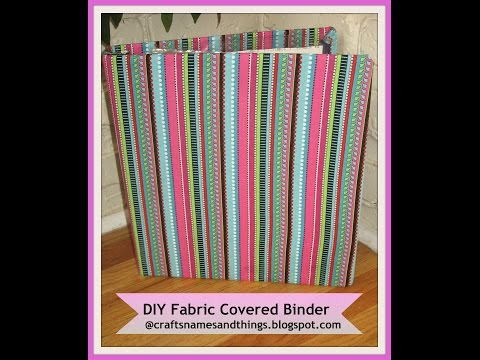 How to Decorate Binders/ How make to Fabric covered Binders| DIY Back-to-School Supplies