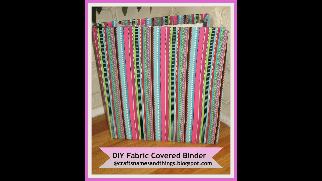 How to decorate binders how make to fabric covered for How to decorate