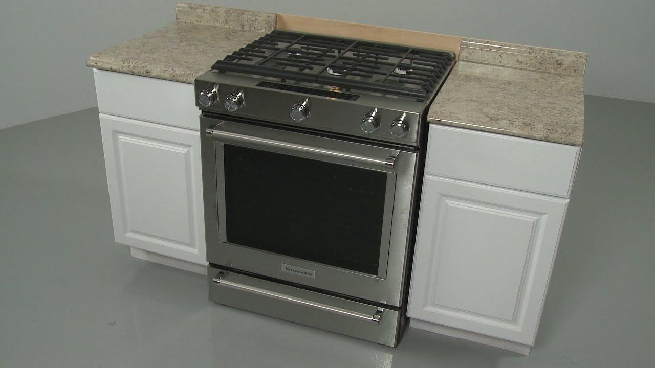 Kitchenaid Gas Range Installation Model Ksgb900ess Youtube