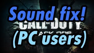 Call of Duty Black Ops: Sound Fix