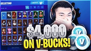 J'ai dépensé 4 000 $ sur Fortnite V-Bucks