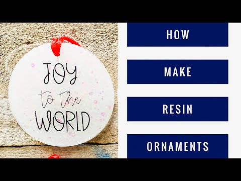 Craft with me: How to make a resin ornament