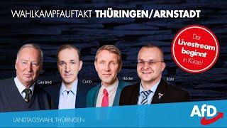 LIVE Wahlkampfauftakt In ArnstadtThüringen