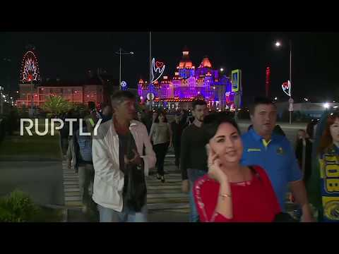 LIVE: Football fans arrive to Sochi's Fisht Stadium for Russia vs. Turkey game