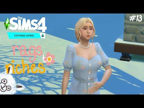 ท้อง!!!??? 🌷✨the sims 4 rags to riches (cottage living) ss.3 ep.13