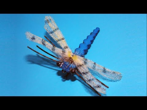 Easy adult dragonfly fly tying instructions by Ruben Martin