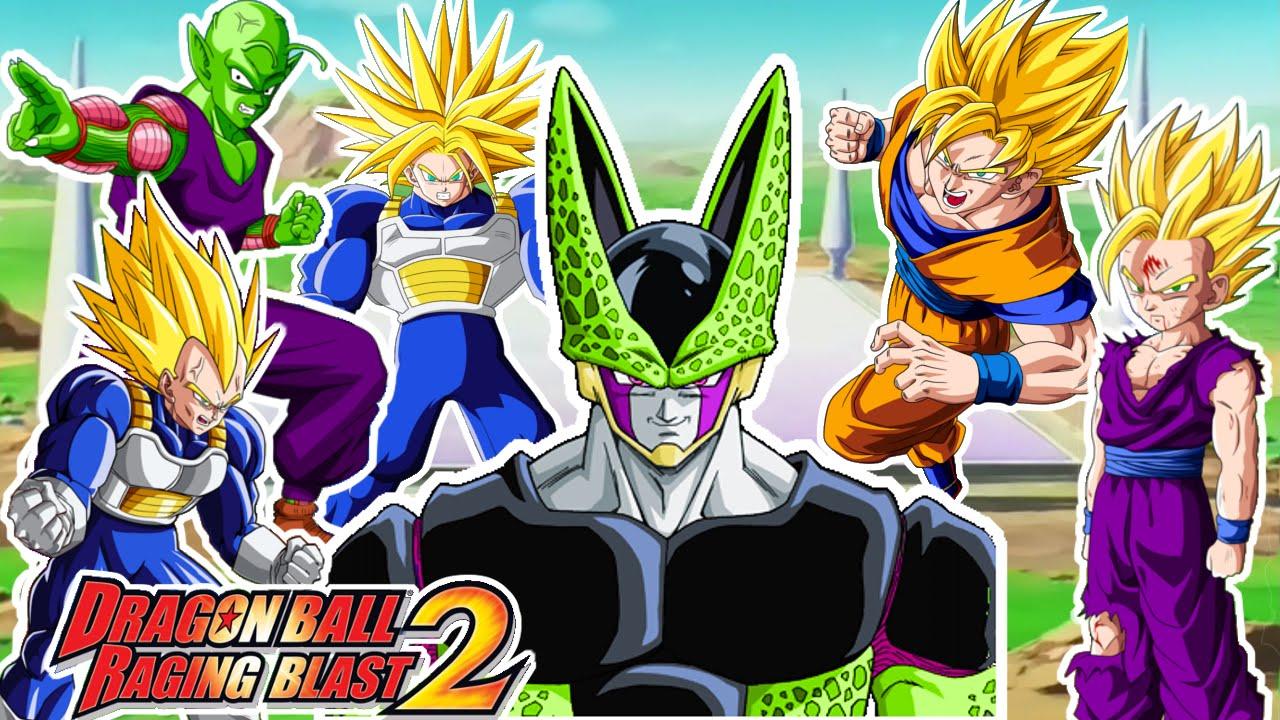 Dragon ball raging blast 2 cell vs guerreros z goku gohan vegeta trunks piccolo super - Super cell dbz ...