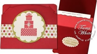 Quick, Easy And Awesome Gift Card Holder Featuring Stampin Up Pop 'n Cuts