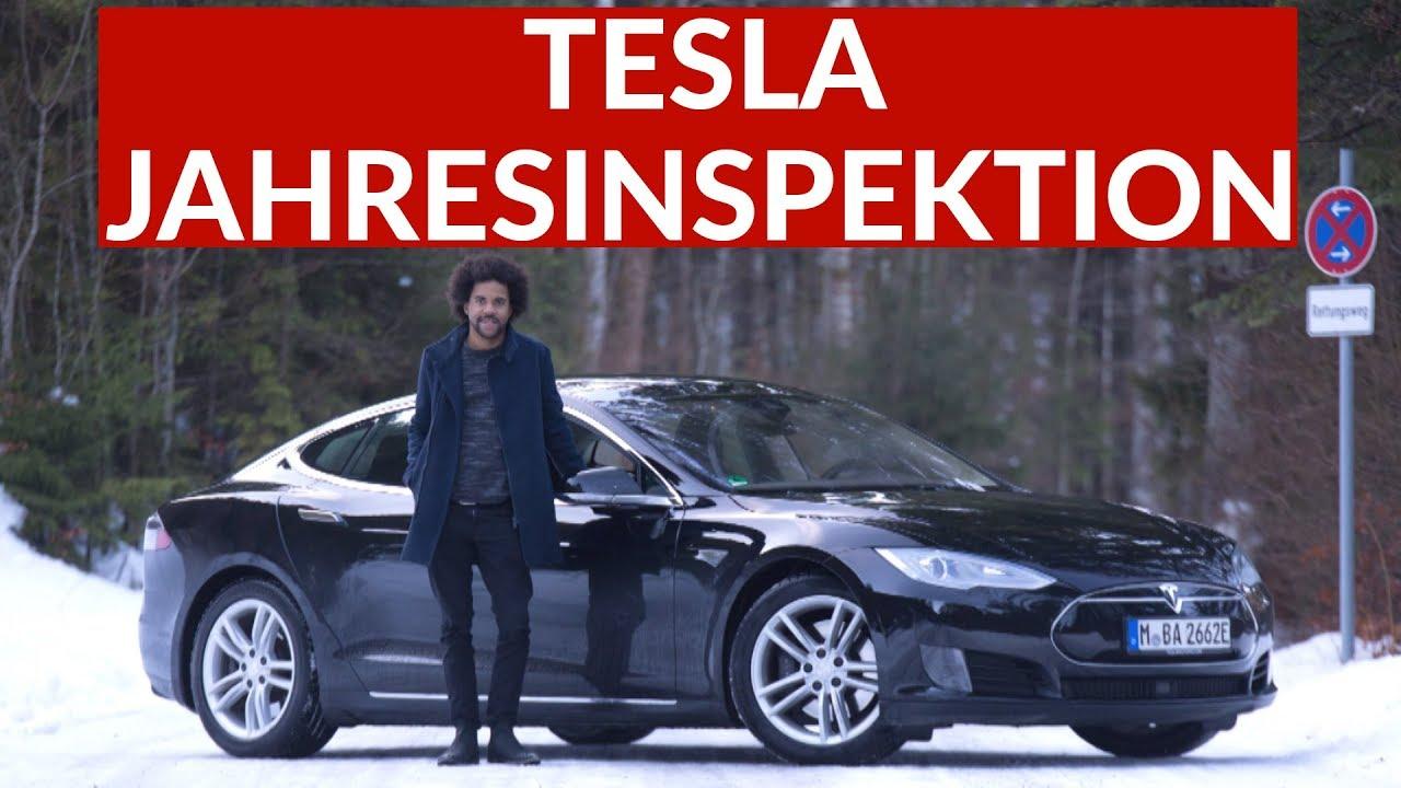 Tesla Model S Jahresinspektion Tesla Service Center Uberfordert