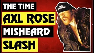 Guns N' Roses: The True Story Behind The Time Axl Rose Misheard Slash On Stage and Got Angry!