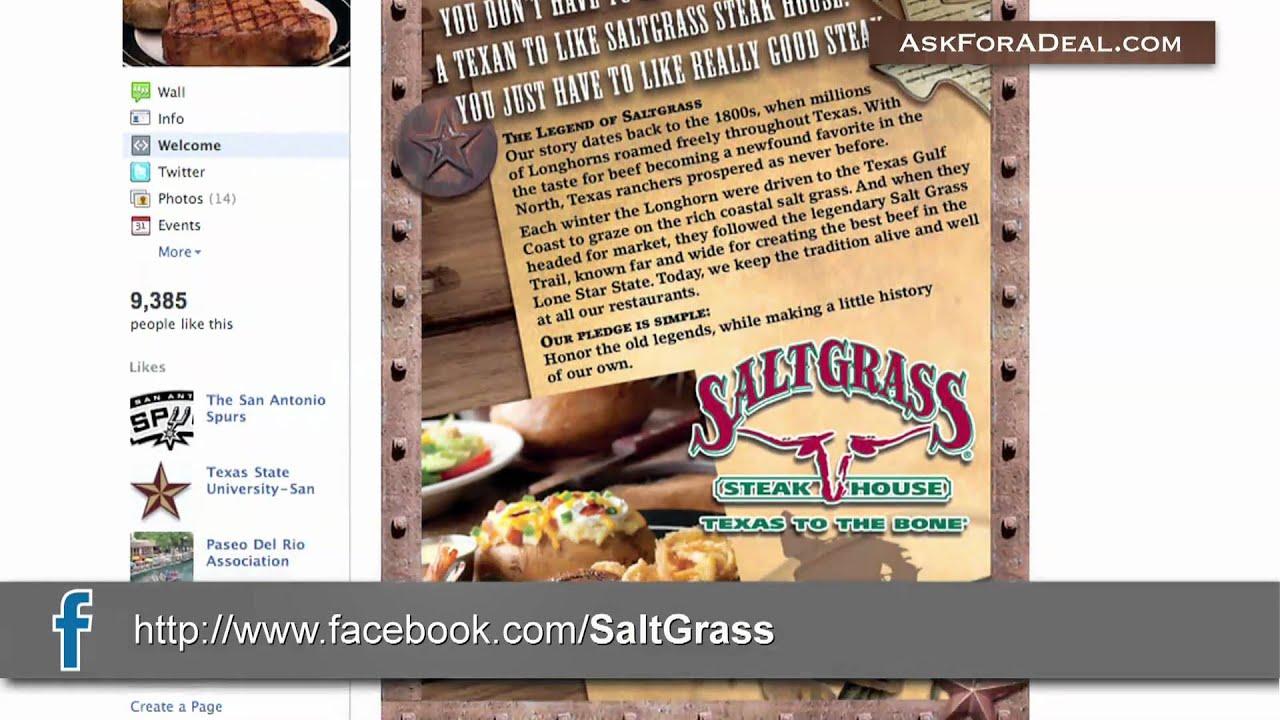 Saltgrass online coupons