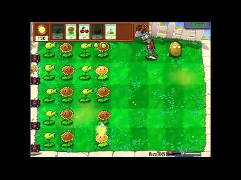 Gameplay-Plants Vs Zombies Level 1-6