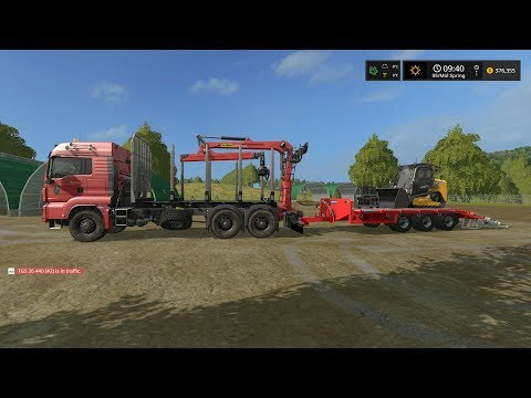Farming simulator 2017 Timelapse #5 | Logging on The valley the old farm