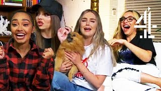 Little Mix & More REACT to Love Island, Killing Eve, It & Naked Attraction | Celeb Gogglebox