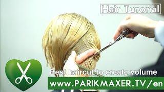 Best haircut to create volume. Hairdesign academy. parikmaxer tv USA