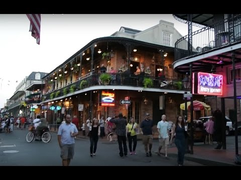New Orleans partying on Bourbon Street