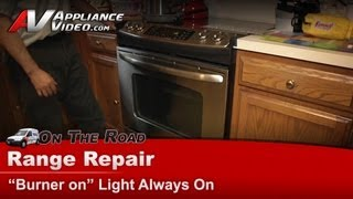 Range & Stove Repair - Burners are off & light staying on -GE, Hotpoint, RCA, - JSP46SP1SS