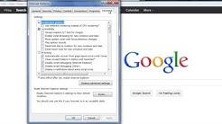 Reset Internet Explorer Settings to Default