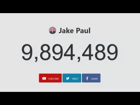 Jake Paul Live Subscriber Count