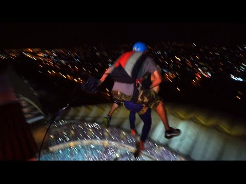 When You Volunteer to BASE Jump With Nitro Circus