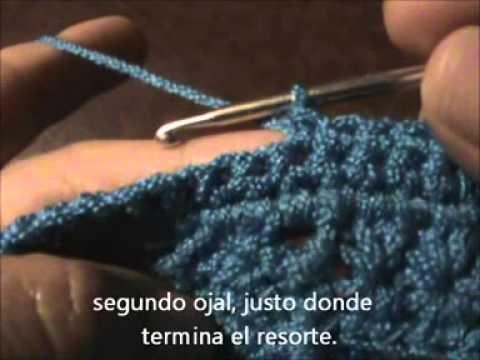 Cómo tejer un suéter para dama a gancho o crochet. Parte 7. (Ojales ...