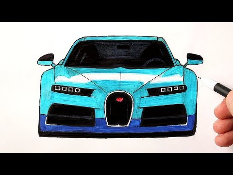 Как нарисовать машину Бугатти поэтапно (Ehedov Elnur)