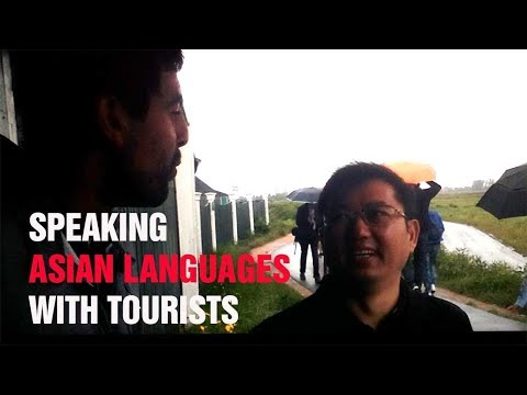 Speaking Asian languages with tourists