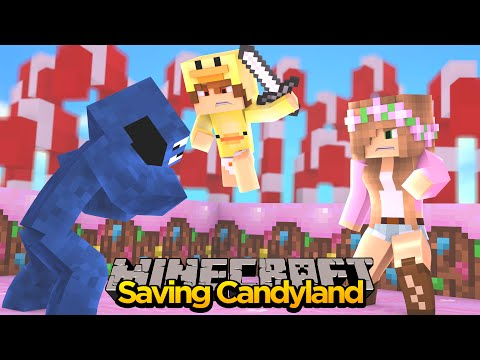 MINECRAFT ADVENTURE - LITTLE KELLY & BABY DUCK SAVE CANDY LAND!