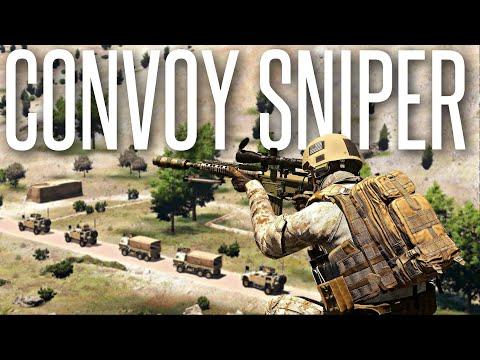ARMED CONVOY SNIPER!  ArmA 3 Milsim Operation