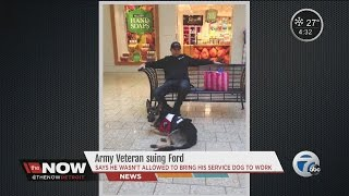 Army vet suing Ford over service dog