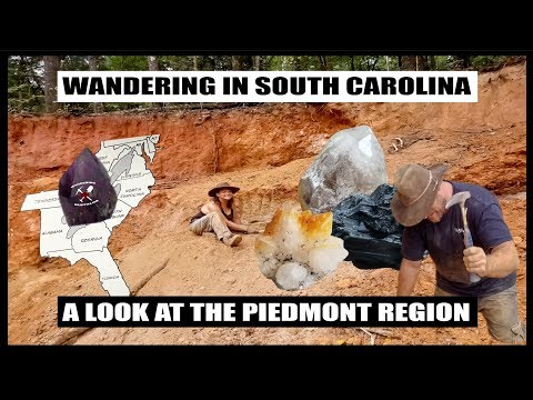 SOUTH CAROLINA GOLD & GEM GEOLOGY: The Piedmont Region
