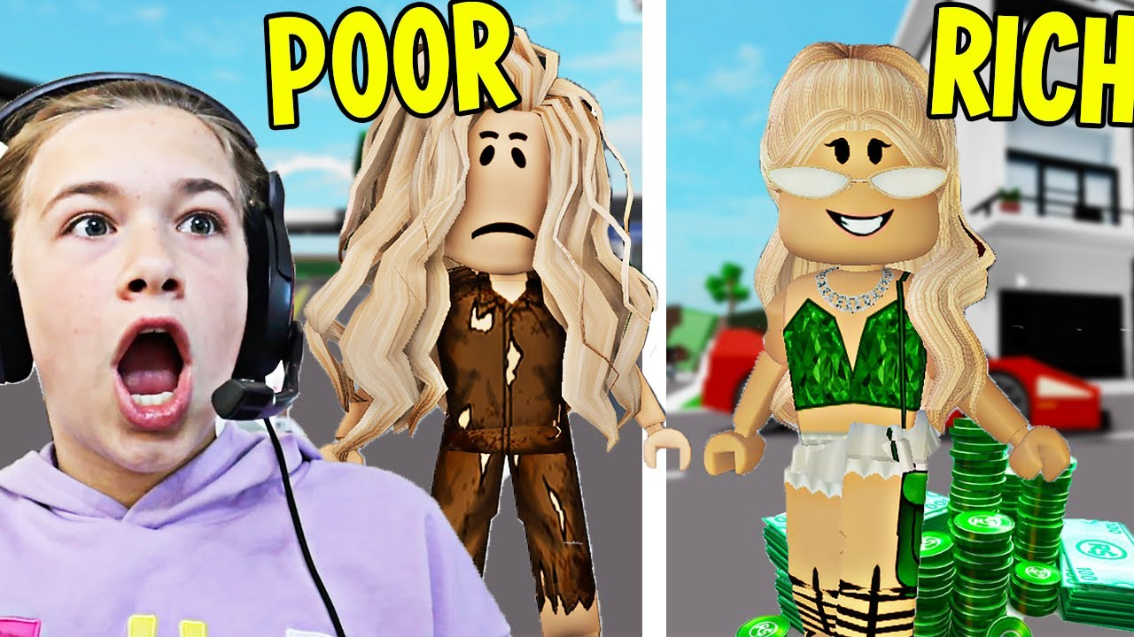 POOR TO RICH!! **BROOKHAVEN ROLEPLAY**   JKREW GAMING