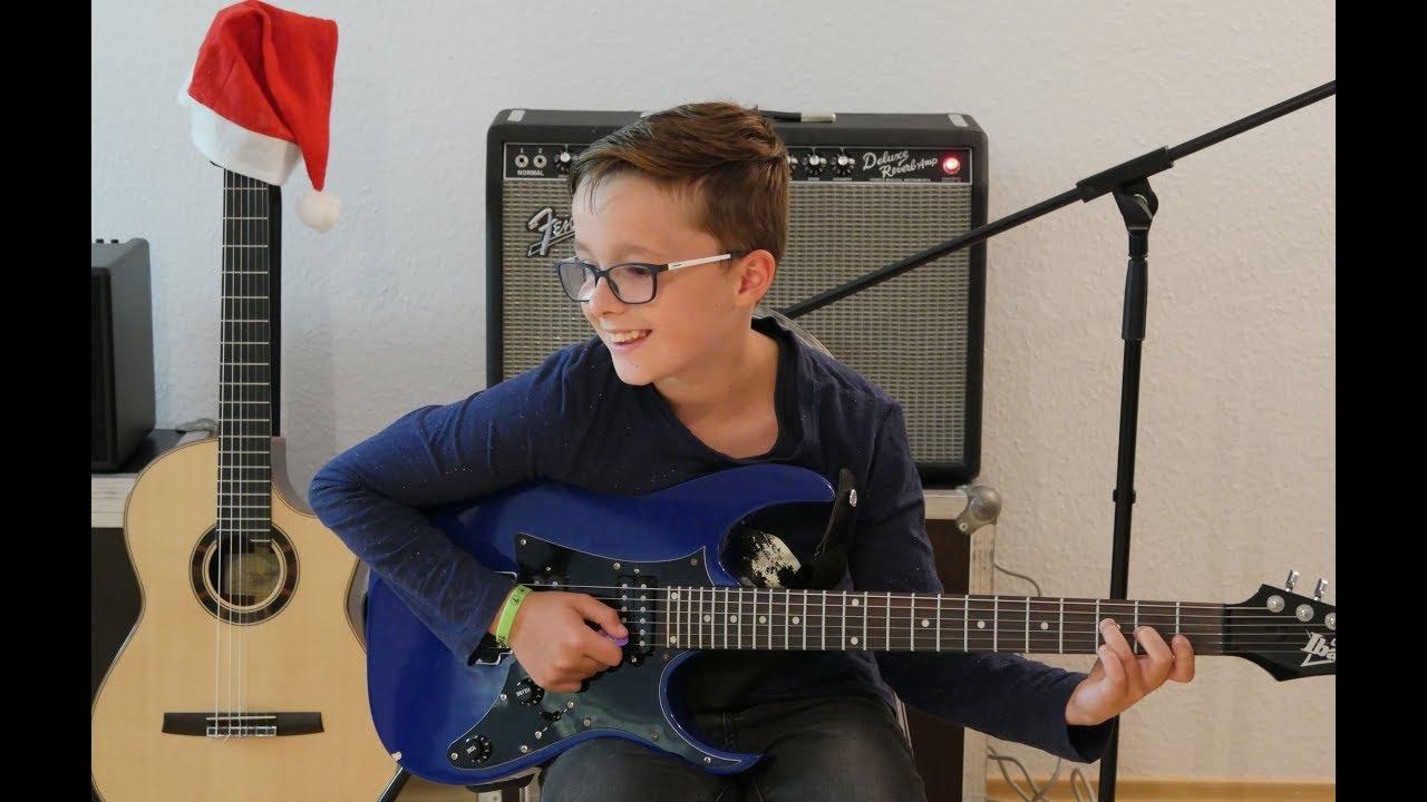 O du fröhliche | E-Gitarre - Weihnachtslieder für Gitarre - YouTube