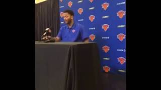 Derrick Rose - Full Introductory Press Conference-New York Knicks, PART 1| 6/24/2016 | NBA Offseason