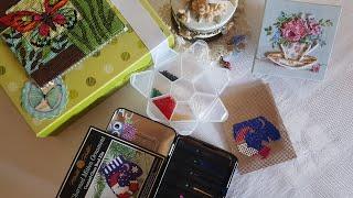 Прикладная вышивка. Первый опыт вышивки бисером. Первый Mill Hill. Оформление бабочки от Dimensions.