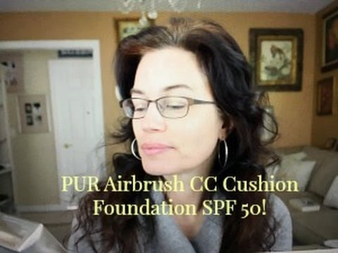 PUR Minerals Airbrush Cushion CC Foundation with SPF 50 Full Review, Try On Demo