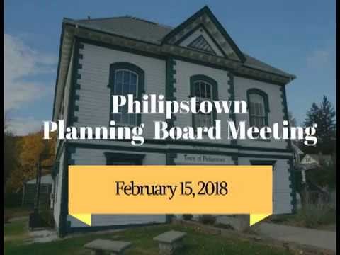 Philipstown Planning Board Meeting February 15, 2018