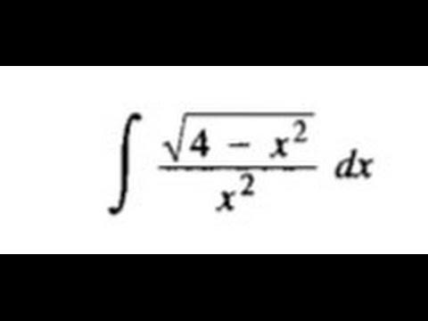 Integracion por sustitucion trigonometrica (Leithold 7 3 ej  2)
