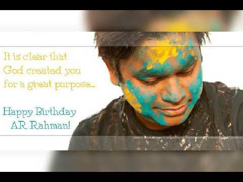 Ar Rahman Birthday Wish Images